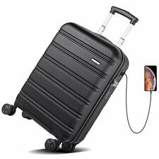 REYLEO Hardside Spinner Luggage 20 Inch Carry On Luggage Lightweight Travel Suit