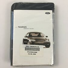 2007 Ford Taurus Owner's Manual Oem W/ Zipper Case & Supplement Books