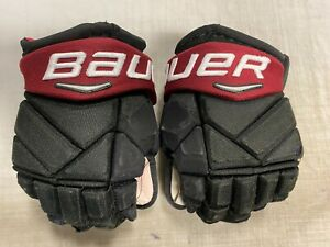 "Bauer Vapor 1X PRO Pro Stock Hockey Gloves Black 14"" COYOTES 7456"