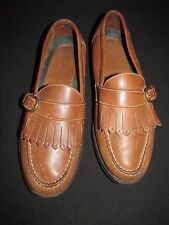 Rockport Tan Leather Tassel Loafers Causal Comfort Shoes Buckle Men's 8.5M