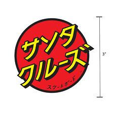3 Inch Santa Cruz Japanese Classic Dot Skateboard Sticker Decal Screaming Hand