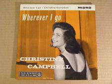 CHRISTINE CAMPBELL Wherever I Go Ex Parlophone UK 1960s P/S EP