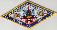 CVW-8 USS GEORGE H.W. BUSH AVENGER CENTURION 100 TRAPS PATCH