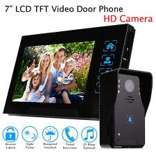 "7.0"" HD Doorbell 2Way Intercom Wired Video Phone Remote Monitor IR Camera System"