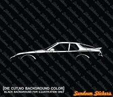 2x silhouette stickers aufkleber - Porsche 968 Coupe oldtimer | tuning