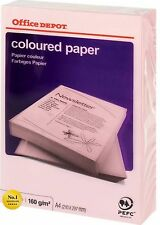 Office Depot Coloured Printer Copy Paper – A4 PINK 160gsm, 1 ream, 125 sheets