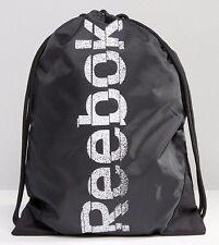 Reebok Drawstring Backpack With Washed Logo Gym Sack - New