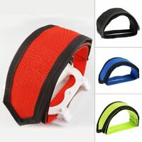Double Bicycle Bike Toe Clip Adhesive Strap Straps Belt Pedal