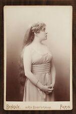 Sybil Sanderson, American operatic Soprano, Opéra, Photo Cabinet card, Benque
