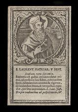 santino incisione 1600 S.LORENZO GIUSTINIANI