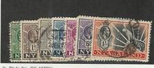 Nyasaland, Postage Stamp, #38-39, 41-44, 46 Used, 1934-35 Leopard