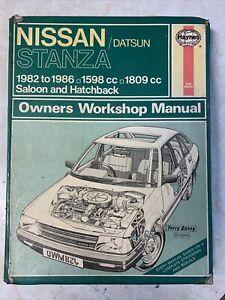 Nissan Datsun Stanza 1982-86 Haynes Workshop Manual