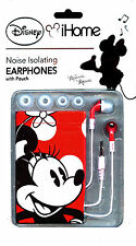 Disney iHome Minnie Mouse Red/White/Pink Licensed Earbuds with Carry Pouch