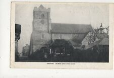 Seaford Church & Lych Gate 1904 Postcard 678a