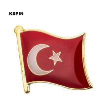 Turkey Flag Lapel Pin 19 x 16mm Hat Tie Tack Badge Pin Free Shipping