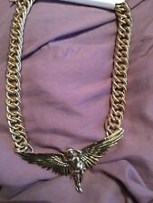 Diva Large Chunky  Cherub Wings Collar Necklace Bnwt Free Post (l)