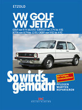 VW Golf 1 Jetta GTI Cabrio Reparaturanleitung Reparaturbuch Reparatur Buch Book