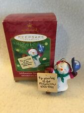 "Hallmark Keepsake ""Millennium Snowman Tip Your Hat"" 2000 Ornament"