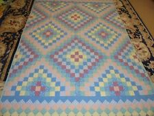 Nice Multi-Color Printed Irish Chain Quilt