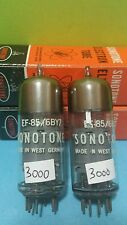 "2 Sonotone ""Telefunken"" EF85 6BY7 Vacuum Tubes  Tested New On Calibrated Hickok"