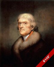 THOMAS JEFFERSON US PRESIDENT PORTRAIT OIL PAINTING ART REAL CANVAS GICLEE PRINT