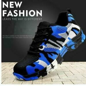 Mens Sport Sneaker Indestructible Military Battlefield Shoes Steel Toe Work US