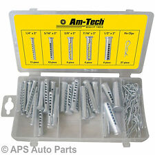 New 74 Piece Assorted Universal Clevis Pin Clip Set Pins Auto Truck Home Car
