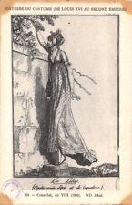FRENCH FASHION COSTUME PARISIEN~HISTOIRE DU COSTUME~LE LILAS POSTCARD