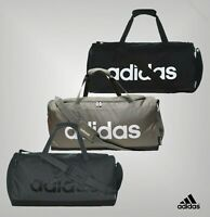 Adidas Zipped Padded Carry Handles Linear Medium Duffle Bag Size 56 x 28 x 22cm