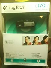 Logitech C170 Webcam Built in Microphone Clip on Brand New Sealed Box
