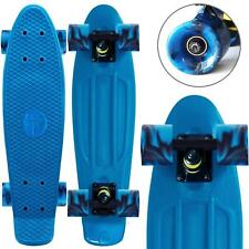 "22"" Complete Skateboard Penny Deck Swirl Wheels Retro Cruiser Board Coral teal"