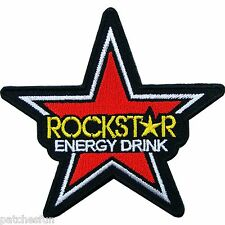 Rockstar Energy Motorcycle Motocross Sport Racing Biker Sew Iron on Patch #0970