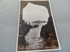 Staffa Fingal's Cave Landing Place  REAL PHOT0  1959  VINTAGE POSTCARD GOOD COND