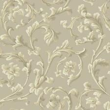 York Textured Graystone Estate Grand Hunt Scroll (Grey/Taupe) Wallpaper - HD6965