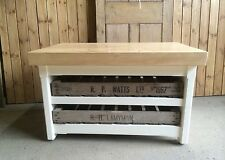 Pine Farmhouse Coffee Tables with Shelves