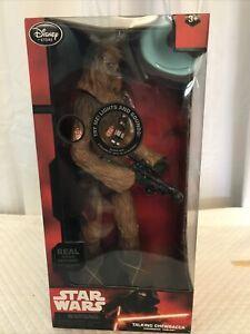 Chewbecca Figure 14'' Star Wars The Force Awakens Disney Store Exclusive