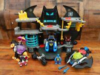 Imaginext Batman Batcave Playset with Batman Batboat and Batjet Vehicles