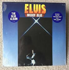 "Factory Sealed ELVIS PRESLEY -""Moody Blue"" 2 hype stkrs""The Blue Album""- RCA2428"