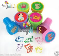 24 Pcs Cats Self-Inking Stampers for Kids Party Favors