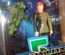 Babylon Five Action Figure - Lyta Alexander with Green Ship