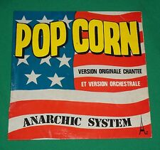 VTG ANARCHIC SYSTEM AZ POPCORN DISCODIS TECHNO POP FRANCE FRENCH 45 RECORD ALBUM