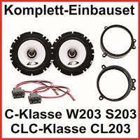 Lautsprecher Set C Klasse W203 S203 CLC CL203 ALPINE SXE-1725S 2 Wege vorne