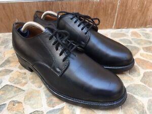 Alden Plain Toe Black Blucher 968 Oxford Shoes Men's Size 7.5 C/E USA