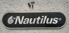"""Home Gym Parts Emblem Nautilus NT-SM1 Weight Machine Logo Sign Plaque 9"""""""