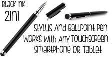 Stylet & Stylo-bille 2in1 fonctionne avec un écran tactile smartphone ou tablette NEUF