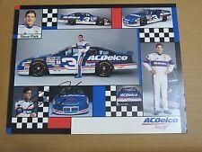 Steve Park 8 x 10-1/4 Autograph photo AC Delco Racing