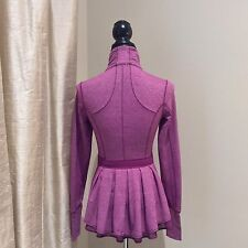 Lululemon Riding Jacket Dewberry Plum Peplum/Ruffle Size 2 RARE!
