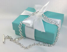 "Tiffany & Co. Pocket Watch Chain 14.5"" Inch Round Link Sterling Silver 925 NEW"