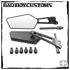Motorrad,Spiegel,Harley Davidson V-Rod,BBC 370 schwarz,CNC gefräst,1 Paar NEU