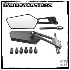 Moto, miroir, Harley Davidson V-ROD, BBC 370 noir, CNC Fraisée, 1 paire NEUF